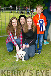 l-r  Aideen Dowling, Caoimhe Dowling, Colin Dowling and Evelyn Casey Dowling with their dog Yoshi. at the Feile na Blath Dog Show in the Town park on Saturday