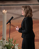 "Renee Fleming sings ""Danny Boy"" as the musical reflection at the memorial service for the late United States Senator John S. McCain, III (Republican of Arizona) in the Washington National Cathedral in Washington, DC on Saturday, September 1, 2018.<br /> Credit: Ron Sachs / CNP<br /> <br /> (RESTRICTION: NO New York or New Jersey Newspapers or newspapers within a 75 mile radius of New York City)"