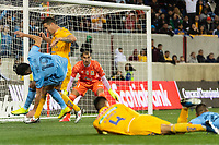 HARRISON, NJ - MARCH 11: Nahuel Guzman #1 of Tigres UANL watches the action during a game between Tigres UANL and NYCFC at Red Bull Arena on March 11, 2020 in Harrison, New Jersey.