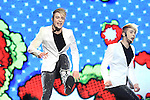 Jedward perform at the 2011 Cheerios Childline Concert in the O2...(Photo credit should read Jenny Matthews www.newsfile.ie)....This Picture has been sent you under the conditions enclosed by:.Newsfile Ltd..The Studio,.Millmount Abbey,.Drogheda,.Co Meath..Ireland..Tel: +353(0)41-9871240.Fax: +353(0)41-9871260.GSM: +353(0)86-2500958.email: pictures@newsfile.ie.www.newsfile.ie.