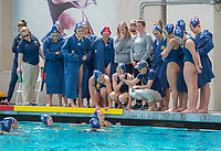 BERKELEY, CA - April 15, 2017: The Cal Bears Women's Water Polo team vs the USC Trojans at the Spieker Aquatics Complex. Final score, Cal 3, USC 6.