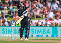 New Zealand's Colin de Grandhomme.  Black Caps v England, second international cricket ODI, Bay Oval, Tauranga, New Zealand. Wednesday, 28 February, 2018. Copyright photo: John Cowpland / www.photosport.nz