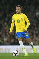 Neymar Jr of Brazil in action during Brazil vs Uruguay, International Friendly Match Football at the Emirates Stadium on 16th November 2018