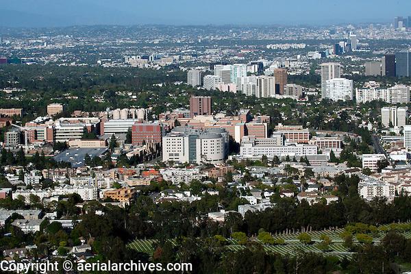 aerial photograph University of California Los Angeles, UCLA, Los Angeles, California