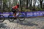 Greg Van Avermaet (BEL) CCC Team on the the first ascent of the Kemmelberg during the 2019 Gent-Wevelgem in Flanders Fields running 252km from Deinze to Wevelgem, Belgium. 31st March 2019.<br /> Picture: Eoin Clarke | Cyclefile<br /> <br /> All photos usage must carry mandatory copyright credit (© Cyclefile | Eoin Clarke)