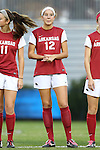 22 November 2013: Arkansas' Claire Kelley (12). The University of Arkansas Razorbacks played the Saint John's University Red Storm at Koskinen Stadium in Durham, NC in a 2013 NCAA Division I Women's Soccer Tournament Second Round match. Arkansas won the game 1-0.