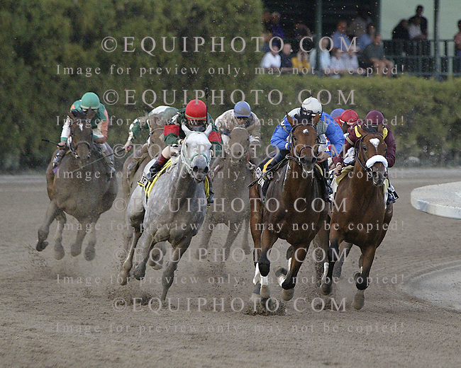 Second Of June with Cornelio Velasquez riding won the 2004 Holy Bull Stakes at Gulfstream Park. 1/17/04