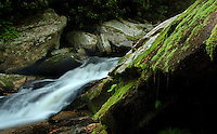 The Harper Creek Waterfall in the North Carolina mountains.