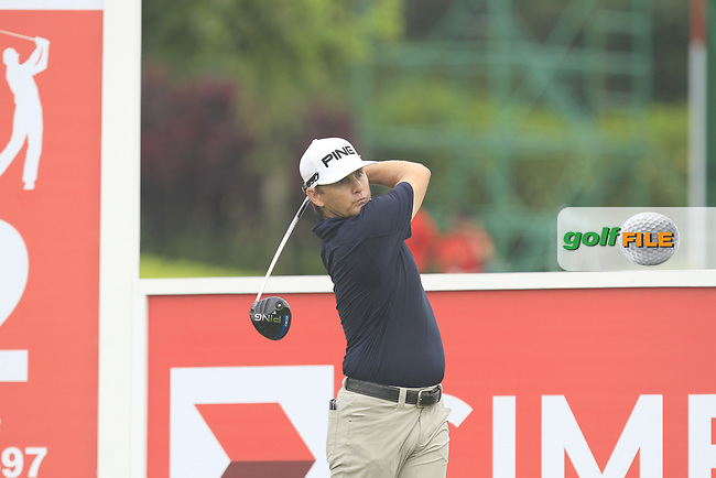 Heath Slocum (USA) on the 12th tee during Round 3 of the CIMB Classic in the Kuala Lumpur Golf &amp; Country Club on Saturday 1st November 2014.<br /> Picture:  Thos Caffrey / www.golffile.ie