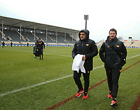Players walk off the ground in the cold and rain during Jaguares captain's run at AMI Stadium in Christchurch on Friday, 5 July 2019. Photo: Martin Hunter / lintottphoto.co.nz