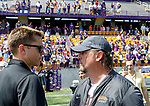 Albany coach Scott Marr and Vermont coach Chris Feifs discuss the game.  UAlbany Lacrosse defeats Vermont 14-4  in the American East Conference Championship game at Casey Stadium, May 5.