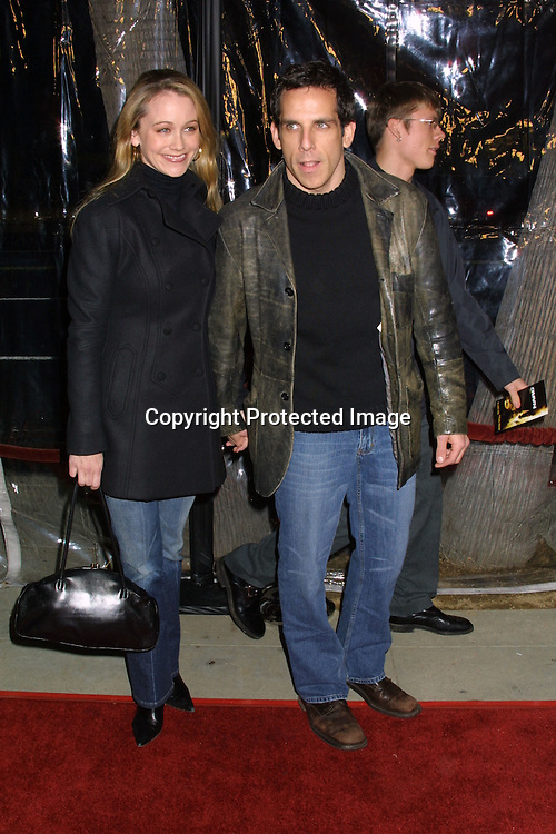 "©2002  KATHY HUTCHINS / HUTCHINS PHOTO.""NARC"" WORLD PREMIERE.SAMUEL GOLDWYN THEATER.THE ACADEMY OF MOTION PICTURE ARTS AND SCIENCES.BEVERLY HILLS, CA.DECEMBER 17, 2002..CHRISTINE TAYLOR.BEN STILLER"