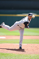 May 5th 2008:  Pitcher Jack Egbert of the Charlotte Knights, Class-AAA affiliate of the Chicago White Sox, during a game at Dunn Tire Park in Buffalo, NY.  Photo by Mike Janes/Four Seam Images
