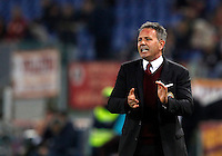 Calcio, Serie A: Roma vs Milan. Roma, stadio Olimpico, 9 gennaio 2016.<br /> AC Milan's coach Sinisa Mihajlovic spurs his players during the Italian Serie A football match between Roma and Milan at Rome's Olympic stadium, 9 January 2016.<br /> UPDATE IMAGES PRESS/Riccardo De Luca