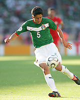Ricardo Osorio lines up a shot. Mexico defeated Iran 3-1 during a World Cup Group D match at Franken-Stadion, Nuremberg, Germany on Sunday June 11, 2006.