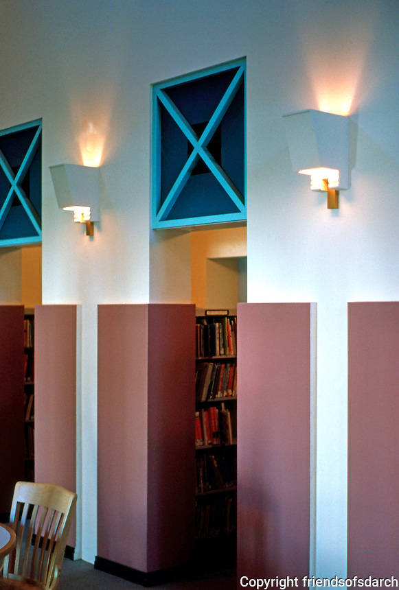 Michael Graves: San Juan Capistrano Library. Reading Room detail.  Photo '86.