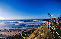 Kirra Hill, Coolangatta, Queensland, Australia. July 2002.This image was taken on the day that Damon Harvey (AUS) rode the Superbank into surfing history. Harvey caught a wave at Snapper Rocks and rode it for over a kilometer before kicking out past little gryone Kirra..Photo: joliphotos.com