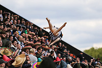 Grimsby Town fan throw around an inflatable during the Sky Bet League 2 match between Barnet and Grimsby Town at The Hive, London, England on 29 April 2017. Photo by David Horn.
