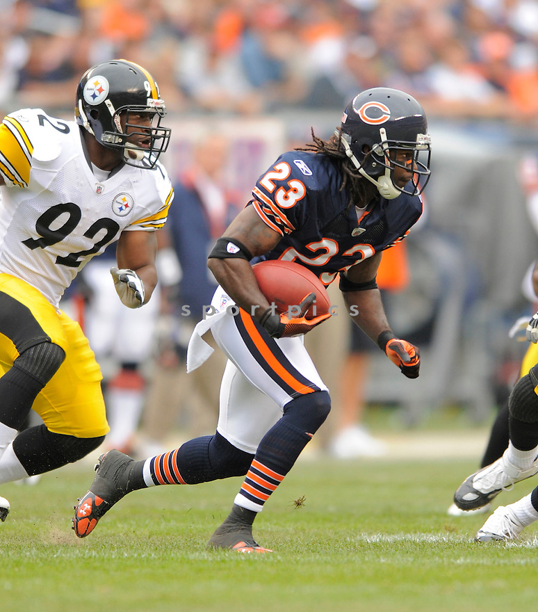 DEVIN HESTER,of the Chicago Bears, during the Bears game against the Pittsburgh Steelers  on September 20, 2009 in Chicago, IL  The Bears beat the Steelers 17-14.