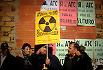 Voluntarios de greenpeace se manifiestan en Villar de Ca&ntilde;as, en Cuenca contra la posible construcci&oacute;n de un almacen de residuos nucleares, ATC el domingo 12 de febrero 2012. <br /> Greenpeace volunteers are manifested against the possible construction of a nuclear waste storage, in Villar de Ca&ntilde;as, near Cuenca, on February  12, 2012.(c) GREENPEACE HANDOUT/PEDRO ARMESTRE- NO SALES - NO ARCHIVES - EDITORIAL USE ONLY - FREE USE ONLY FOR 14 DAYS AFTER RELEASE - PHOTO PROVIDED BY GREENPEACE - AP PROVIDES ACCESS TO THIS PUBLICLY DISTRIBUTED HANDOUT PHOTO TO BE USED ONLY TO ILLUSTRATE NEWS REPORTING OR COMMENTARY ON THE FACTS OR EVENTS DEPICTED IN THIS IMAGE<br /> (C) Greenpeace Handout / PEDRO ARMESTRE-NO VENTAS - NO ARCHIVOS - uso editorial - USO LIBRE SOLO PARA 14 D&Iacute;AS DESPU&Eacute;S DE PRENSA - Foto proporcionada por Greenpeace - AP proporciona acceso a esta Cortes&iacute;a distribuido al p&uacute;blico A UTILIZAR s&oacute;lo para ilustrar INFORMES NOTICIAS o comentario sobre los hechos o acontecimientos que aparecen en este IMAGEN