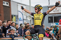 race winner Dylan Groenewegen (NED/Lotto NL - Jumbo).  <br /> <br /> 103th Kampioenschap van Vlaanderen 2018 (UCI 1.1)<br /> Koolskamp &ndash; Koolskamp (186km)