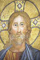 Particular Jesus Christ Mosaic,Saint Paul outside the walls basilica in Rome,Pope Benedict XVI leads Vespers on the Feast of the Conversion of the Apostle Paul on January 25, 2012 at the Saint Paul outside the walls basilica in Rome. .