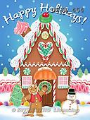 Janet, CHRISTMAS SANTA, SNOWMAN, paintings+++++,USJS464,#X#