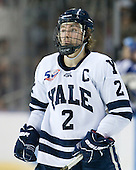 Jimmy Martin (Yale - 2) - The Yale University Bulldogs defeated the Air Force Academy Falcons 2-1 (OT) in their East Regional Semi-Final matchup on Friday, March 25, 2011, at Webster Bank Arena at Harbor Yard in Bridgeport, Connecticut.