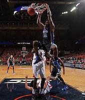 Duke forward Justise Winslow (12) dunk the ball during an ACC basketball game Jan. 31, 2015 in Charlottesville, VA. Duke won 69-63.