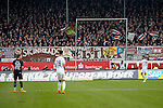 GER - Sandhausen, Germany, March 19: During the 2. Bundesliga soccer match between SV Sandhausen (white) and FC ST. Pauli (black) on March 19, 2016 at Hardtwaldstadion in Sandhausen, Germany. (Photo by Dirk Markgraf / www.265-images.com) *** Local caption ***