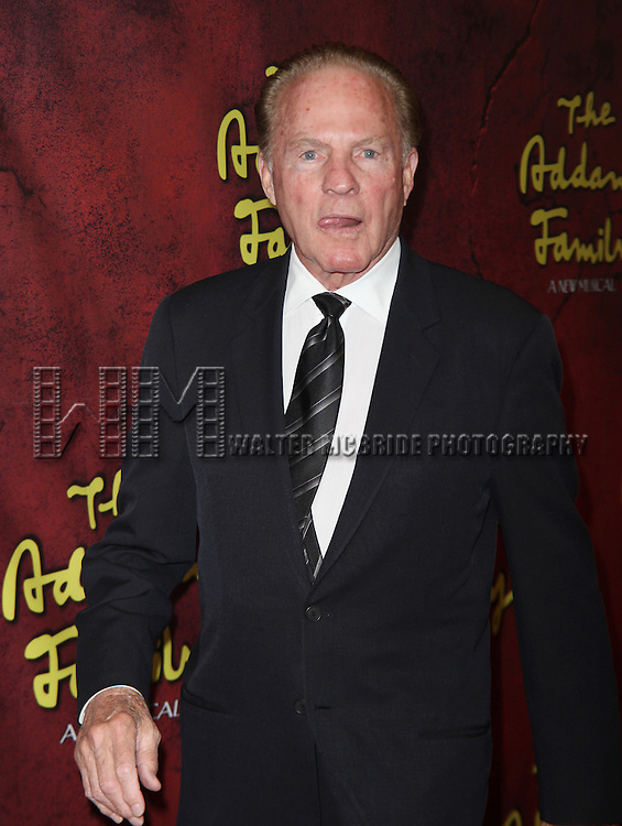 Frank Gifford<br /> attending the Broadway Opening Night performance of &quot;The Addams Family&quot; at the Lunt-Fontanne Theatre in New York City.<br /> April 8, 2010