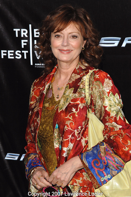 "Actress Susan Sarandon arrives April 30, 2007, at the premiere of ""Spider-Man 3"" during the Tribeca Film Festival in New York City.. (Pictured : SUSAN SARANDON)."
