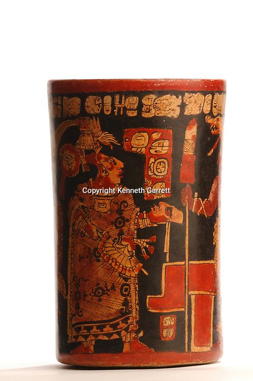 Maya Rise and Fall; Museo Nacional de Arquelogia y Ethnologia; Ministerio de Cultura y Deportes; Guatemala; Guatemala City; Polichrome Vase; Ancient Cultures; Maya; Mayan