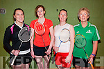 Listowel Badminton Tournament : Taking part in the Listowel Badminton Club Invitation Mixed Double tournament held in the Listowel Community Sports Centre on Sunday last were Karen Lawlor, Marella Murphy, catherine Gately & Sue Weatherill.