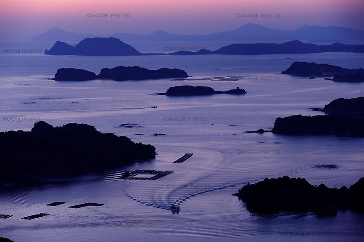 View of Kujukushima (99 islands) in Sasebo. Kyushu. Japan.