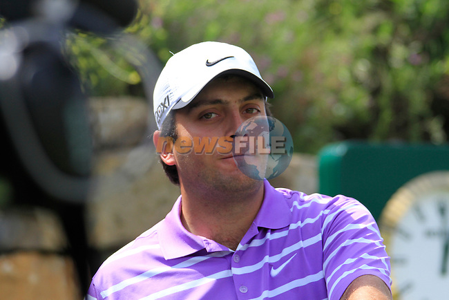Francesco Molinari (ITA) before teeing off on the 1st tee during Day 1 of the Volvo World Match Play Championship in Finca Cortesin, Casares, Spain, 19th May 2011. (Photo Eoin Clarke/Golffile 2011)