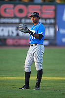 Hudson Valley Renegades designated hitter Manny Sanchez (17) warms up before a game against the Vermont Lake Monsters on September 3, 2015 at Centennial Field in Burlington, Vermont.  Vermont defeated Hudson Valley 4-1.  (Mike Janes/Four Seam Images)