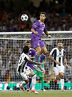 Calcio, Champions League: finale Juventus vs Real Madrid. Cardiff, Millennium Stadium, 3 giugno 2017.<br /> Real Madrid's Cristiano Ronaldo (r) in action with Juventus' Dani Alves (l) during the Champions League final match between Juventus and Real Madrid at Cardiff's Millennium Stadium, Wales, June 3, 2017. Real Madrid won 4-1.<br /> UPDATE IMAGES PRESS/Isabella Bonotto