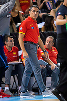 Spain's basketball coach Sergio Scariolo during the  match of the preparation for the Rio Olympic Game at Madrid Arena. July 23, 2016. (ALTERPHOTOS/BorjaB.Hojas) /NORTEPHOTO.COM