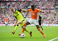 Blackpool's Bright Osayi-Samuel  during the Sky Bet League 2 PLAY OFF FINAL match between Exeter City and Blackpool at Wembley Stadium, London, England on 28 May 2017. Photo by Andrew Aleksiejczuk.