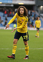 2nd February 2020; Turf Moor, Burnley, Lancashire, England; English Premier League Football, Burnley versus Arsenal; Mattéo Guendouzi of Arsenal gestures to the crowd following taunting