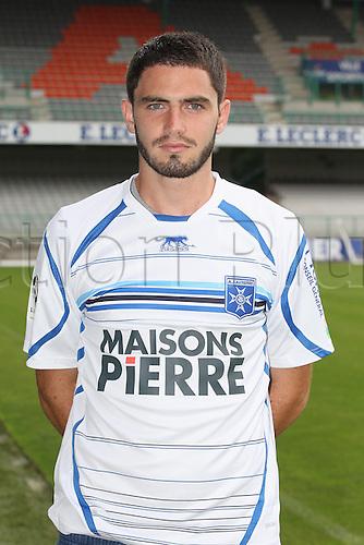 01.08.2013. Auxerre, France. Official Club photoshoot portait for season 2013-14.  (Auxerre)  Thomas Montconduit