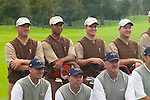 USA Team Photo, players and caddies, for the 2006 Ryder Cup at The K Club featuring Brett Wetterich, Tiger Woods, Zach Johnson and Scott Verplank..Photo: Eoin Clarke/Newsfile.