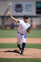 Detroit Tigers pitcher Oswaldo Castillo (67) delivers a pitch during an Instructional League game against the Toronto Blue Jays on October 12, 2017 at Joker Marchant Stadium in Lakeland, Florida.  (Mike Janes/Four Seam Images)