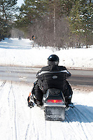 Snowmobiling in Michigan's Upper Peninsula.