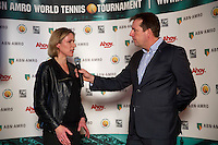 Rotterdam, Netherlands, Januari 06, 2016,  Press conference ABNAMROWTT, Ahoy Director Jolanda Jansen is being interviewd by Edward van Cuilenborg, <br /> Photo: Tennisimages/Henk Koster