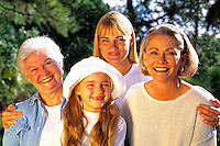 Four generations of woman.
