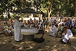 Israel, Sea of Galilee, a Mass at the the Church of St Peter's Primacy