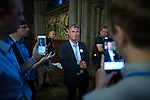 © Joel Goodman - 07973 332324 . 24/06/2016 . Manchester , UK . NIGEL EVANS MP following the national result being announced at the declaration in the EU referendum at Manchester Town Hall . Photo credit : Joel Goodman