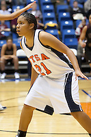 SAN ANTONIO, TX - FEBRUARY 18, 2006: The Texas State University Bobcats vs. The University of Texas at San Antonio Roadrunners Women's Basketball at the UTSA Convocation Center. (Photo by Jeff Huehn)
